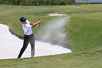 Thorbjorn Olesen (DEN) playing out of a bunker onto the 7th green during the Pro-Am of the Rocco Forte Sicilian Open 2018 on Wednesday 4th May 2018.<br /> Picture:  Thos Caffrey / www.golffile.ie<br /> <br /> All photo usage must carry mandatory copyright credit (&copy; Golffile | Thos Caffrey)