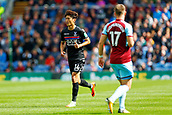 10th September 2017, Turf Moor, Burnley, England; EPL Premier League football, Burnley versus Crystal Palace; Lee Chung-yong of Crystal Palace is watched by Johann Berg Gudmundsson of Burnley