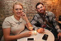 Lindley Schneider and Jordan Brenner attend the private screening of ABC's new show Selfie at the Wythe Hotel's cinema in Brooklyn on September 24, 2014