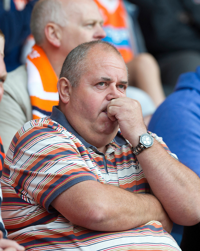 Blackpool fans seem seem anxious as the game goes on<br /> <br /> Photographer Stephen White/CameraSport<br /> <br /> Football - The Football League Sky Bet Championship - Blackpool v Wolverhampton Wanderers - Saturday 13th September 2014 - Bloomfield Road - Blackpool<br /> <br /> &copy; CameraSport - 43 Linden Ave. Countesthorpe. Leicester. England. LE8 5PG - Tel: +44 (0) 116 277 4147 - admin@camerasport.com - www.camerasport.com