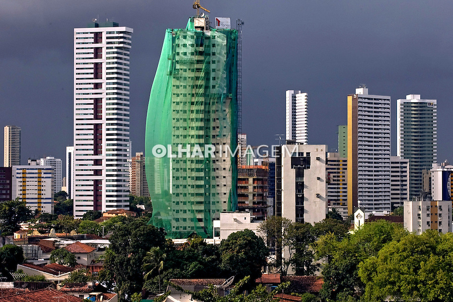 Predios em construçao na cidade de Recife. Pernambuco. 2011. Foto de Joao Urban.
