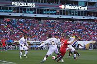 Action photo during the match Chile vs Panama, Corresponding to Group -D- America Cup Centenary 2016 at Lincoln Financial Field.<br /> <br /> Foto de accion durante el partido Chile vs Panama, Correspondiente al Grupo -D- de la Copa America Centenario 2016 en el  Lincoln Financial Field, en la foto: (i-d) Luis Tejada de Panama y Alexis Sanchez de Chile <br /> <br /> <br /> 14/06/2016/MEXSPORT/Javier Ramirez.
