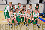 St. Brendan's B Team front l-r Liam McGee, Luke Chester, Darragh O'Sullivan, Cian Devine, Jimmy O'Sullivan. Back l-r Jack Walsh, James Fernane, Niall Fitzmaurice, Cian Percell, Enda O'Connor and Tom Walsh at the St. Brendan's Basketball Club Tralee U12 invitational tournament at Moyderwell sports hall at the weekend, next year will be called the Jimmy Curran memorial Cup