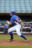 Catcher Evan Skoug (52) of Libertyville High School in Libertyville, Illinois playing for the Chicago Cubs scout team during the East Coast Pro Showcase on August 2, 2013 at NBT Bank Stadium in Syracuse, New York.  (Mike Janes/Four Seam Images)
