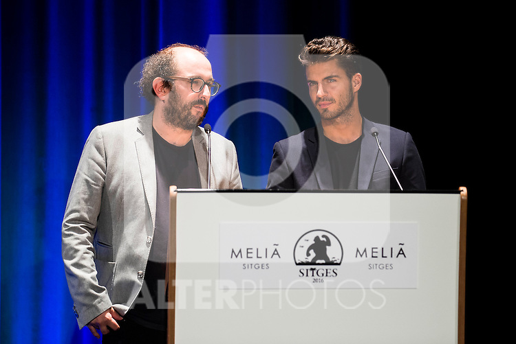 Borja Cobeaga and Maxi Iglesias during the opening ceremony of the Festival de Cine Fantastico de Sitges in Barcelona. October 07, Spain. 2016. (ALTERPHOTOS/BorjaB.Hojas)
