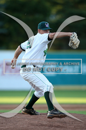 Jamestown Jammers pitcher Andy Kainer (20) during a game vs. the Mahoning Valley Scrappers at Russell Diethrick Park in Jamestown, New York June 20, 2010.   Mahoning Valley defeated Jamestown 9-2.  Photo By Mike Janes/Four Seam Images