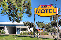 The Moana Motel on Route 66 in Fontanna California.