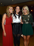 Rebecca Traynor and Joanne Malocca celebrating their 21st birthdays in the Thatch with friend Laura Purcell. Photo:Colin Bell/pressphotos.ie