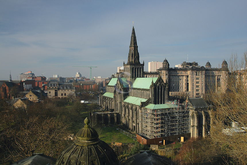 Glasgow Cathedral from The Necropolis, Glasgow<br /> <br /> Copyright www.scottishhorizons.co.uk/Keith Fergus 2011 All Rights Reserved