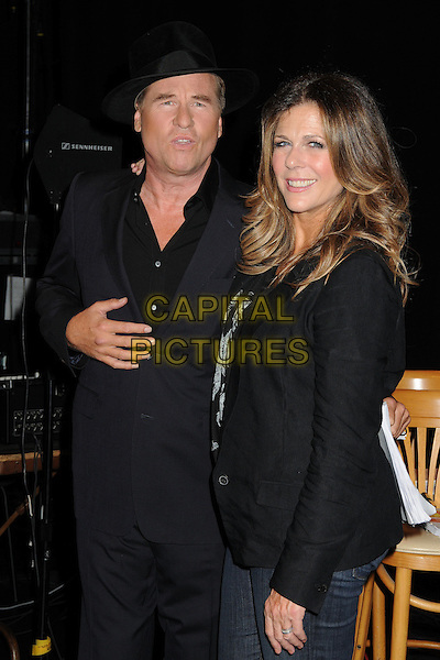 Val Kilmer, Rita Wilson<br /> The Shakespeare Center of Los Angeles' 23rd Annual Simply Shakespeare held at The Broad Stage, Santa Monica, California, USA.<br /> September 25th, 2013<br /> full length suit black hat blazer side <br /> CAP/ADM/BP<br /> &copy;Byron Purvis/AdMedia/Capital Pictures