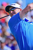 Jordan Niebrugge (USA) watches his tee shot on 1 during Saturday's round 3 of the 117th U.S. Open, at Erin Hills, Erin, Wisconsin. 6/17/2017.<br /> Picture: Golffile | Ken Murray<br /> <br /> <br /> All photo usage must carry mandatory copyright credit (&copy; Golffile | Ken Murray)