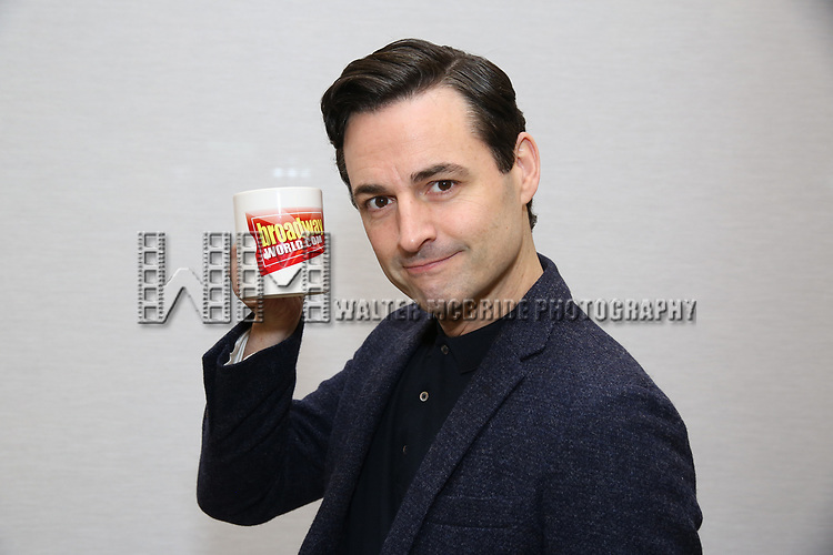 """Max von Essen attends the Meet the Cast of  """"Falsettos"""" during the rehearsal media day at the New Ripley Grier on January 25, 2019 in New York City."""