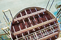 mechanical feet on a vat to push down the cap quinta de catralvos setubal portugal