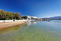 A beach at the port of Antiparos island, Greece