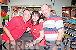 Enjoying the 50th Anniversary celebrations of Harnett's Spar Abbeyfeale on Saturday were L-R James Fitzgibbon, Templeglantine, Joanne and Charlie Mcarthy, Abbeyfeale.