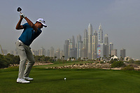 Andres Romero (ARG) on the 8th tee during Round 1 of the Omega Dubai Desert Classic, Emirates Golf Club, Dubai,  United Arab Emirates. 24/01/2019<br /> Picture: Golffile | Thos Caffrey<br /> <br /> <br /> All photo usage must carry mandatory copyright credit (&copy; Golffile | Thos Caffrey)
