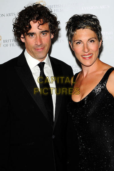 STEPHEN MANGAN & TAMSIN GREIG.The British Academy Television Craft Awards held at The Brewery - Arrivals London, England..May 8th, 2011.half length black suit jacket dress tie white shirt .CAP/CJ.©Chris Joseph/Capital Pictures.