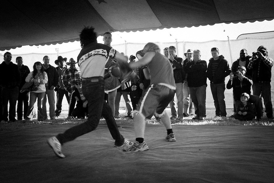 Roy Bell's boxing tent, which was at the 2010 Alice Springs Show for the first time since 1992. The Boxing Tent is one of the oldest travelling tents, with a history dating back to 1924.