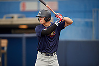 Austin Hendrick (7) during the Under Armour All-America Game Practice, powered by Baseball Factory, on July 21, 2019 at Les Miller Field in Chicago, Illinois.  Austin Hendrick attends West Allegheny High School in Oakdale, Pennsylvania and is committed to Mississippi State University.  (Mike Janes/Four Seam Images)