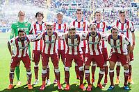 VALENCIA, SPAIN - MARCH 10: Atletico squad during BBVA LEAGUE match between Levante U.D. Andr Atletico de Madrid at Ciudad de Valencia Stadium on March 10, 2015 in Valencia, Spain