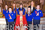 The 6th class students of Scoil Mhuire Killmurry NS  Castleisland  who were Confirmed at St Stephen and St John, Castleisland  on Tuesday March 18th. By Bishop Ray Browne. Pictured Ms Therese Kearney (Principal) Redmond Horan, Oisin Crowley, Laura Fitzmaurice, Roisin Brosnan, Brid Moriarty and Kayla O'Connor