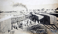 BNPS.co.uk (01202 558833)<br /> Pic: LaceyScott&Knight/BNPS<br /> <br /> Troop train leaving Kalabagh.<br /> <br /> From the far reaches of the British Empire - Remarkable previously unseen photos of a forgotten military campaign has come to light 100 years later.<br /> <br /> The little known Waziristan campaign of 1919 and 1920 saw the British and Indian forces engaged in fierce fighting against Afghan tribesman who invaded northern India.<br /> <br /> However, the conflict, which saw the use of the might of the RAF in targeted bombing raids, has become almost lost to history since it took place just after the Great War.<br /> <br /> The battleground was the rugged, remote, mountainous region which is modern day northern Pakistan, on the southern border of Afghanistan.