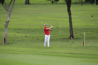 Li Haotong (Asia) on the 1st fairway during the Singles Matches of the Eurasia Cup at Glenmarie Golf and Country Club on the Sunday 14th January 2018.<br /> Picture:  Thos Caffrey / www.golffile.ie