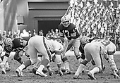 Washington Redskins quarterback Billy Kilmer (17) calls signals against the New York Giants at RFK Stadium in Washington, DC on December 5, 1971. Giants right defensive tackle Roland Lakes (76) and right defensive end Fred Dryer (89) and Redskins offensive guard John Wilbur (60) are also visible.  The Redskins won the game 23 - 7.<br /> Credit: Arnie Sachs / CNP