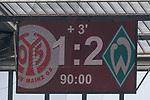 12.05.2018, OPEL Arena, Mainz, GER, 1.FBL, 1. FSV Mainz 05 vs SV Werder Bremen<br /> <br /> im Bild<br /> Anzeigetafel / Endstand, Feature<br /> <br /> Foto &copy; nordphoto / Ewert