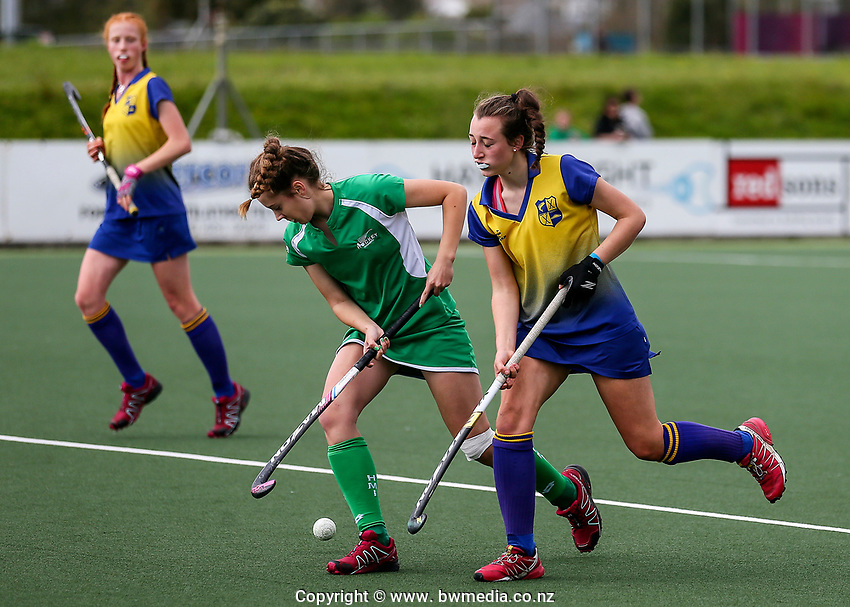Manawatu v Bay of Plenty. Action during the U-15 Premier Girls Hockey Nationals. North Harbour Hockey, Auckland, New Zealand. Monday 4 October 2017. Photo:Simon Watts / www.bwmedia.co.nz