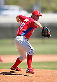 March 30, 2010:  Pitcher Jacob Woods of the Philadelphia Phillies organization during Spring Training at the Carpenter Complex in Clearwater, FL.  Photo By Mike Janes/Four Seam Images