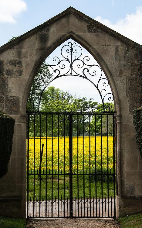 Gate to churchyard, St Leonard & St James Church, Rousham.