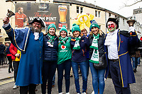 Pictured: Welsh and Irish Fans during the Guinness six nations match between Wales and Ireland at the Principality Stadium, Cardiff, Wales, UK.<br /> Saturday 16 March 2019