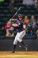 Ray-Patrick Didder (11) of the Rome Braves at bat against the Hickory Crawdads at L.P. Frans Stadium on May 12, 2016 in Hickory, North Carolina.  The Braves defeated the Crawdads 3-0.  (Brian Westerholt/Four Seam Images)