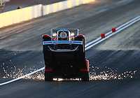 Mar 28, 2014; Las Vegas, NV, USA; NHRA wheelstander driver Ed Jones during qualifying for the Summitracing.com Nationals at The Strip at Las Vegas Motor Speedway. Mandatory Credit: Mark J. Rebilas-USA TODAY Sports