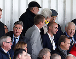 Former Rangers Chairman Malcolm Murray watches from the stands