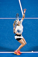 Eugenie Bouchard of Canada in action during Day five of the Australian Open Tennis Championships held in Melbourne Park, Australia on 20th January 2017