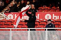 Preston North End fans remove a flag after the game<br /> <br /> Photographer Alex Dodd/CameraSport<br /> <br /> The EFL Sky Bet Championship - Middlesbrough v Preston North End - Tuesday 1st October 2019  - Riverside Stadium - Middlesbrough<br /> <br /> World Copyright © 2019 CameraSport. All rights reserved. 43 Linden Ave. Countesthorpe. Leicester. England. LE8 5PG - Tel: +44 (0) 116 277 4147 - admin@camerasport.com - www.camerasport.com