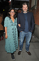 LONDON, ENGLAND - SEPTEMBER 10: Indhu Rubasingham and guest at the h Club (formerly The Hospital Club) h100 Awards 2019, h Club, Endell Street on Tuesday 10 September 2019 in London, England, UK. <br /> CAP/CAN<br /> ©CAN/Capital Pictures