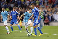 Ruben Loftus-Cheek, Chelsea watched by Samir Nasri..Manchester City defeated Chelsea 4-3 in an international friendly at Busch Stadium, St Louis, Missouri.