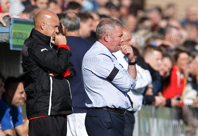 Ally McCoist and Kenny McDowall watch on as the match peters out