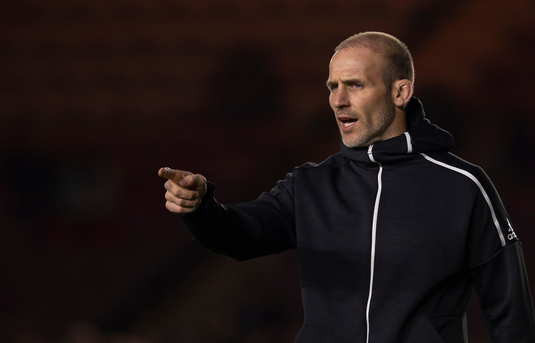 Harlequins' Head Coach Paul Gustard<br /> <br /> Photographer Bob Bradford/CameraSport<br /> <br /> Gallagher Premiership Round 9 - Harlequins v Exeter Chiefs - Friday 30th November 2018 - Twickenham Stoop - London<br /> <br /> World Copyright © 2018 CameraSport. All rights reserved. 43 Linden Ave. Countesthorpe. Leicester. England. LE8 5PG - Tel: +44 (0) 116 277 4147 - admin@camerasport.com - www.camerasport.com