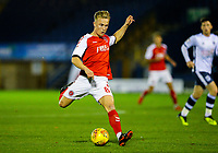Fleetwood Town's Kyle Dempsey shapes to shoot, before scoring the opening goal<br /> <br /> Photographer Alex Dodd/CameraSport<br /> <br /> The EFL Checkatrade Trophy Group B - Bury v Fleetwood Town - Tuesday 13th November 2018 - Gigg Lane - Bury<br />  <br /> World Copyright &copy; 2018 CameraSport. All rights reserved. 43 Linden Ave. Countesthorpe. Leicester. England. LE8 5PG - Tel: +44 (0) 116 277 4147 - admin@camerasport.com - www.camerasport.com