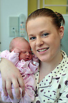 Sophie Jane O'Donovan with mum Louise Katie, from Leith West, Tralee who was born at 38minutes past midnight on January 1st at tralee General Hospital..Picture by Don MacMonagle