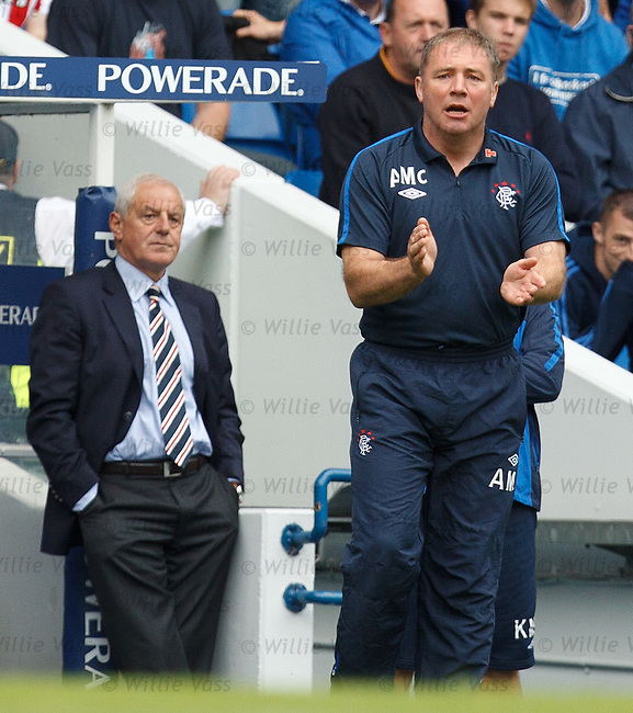 Ally McCoist gets his team going as Walter Smith takes it easy