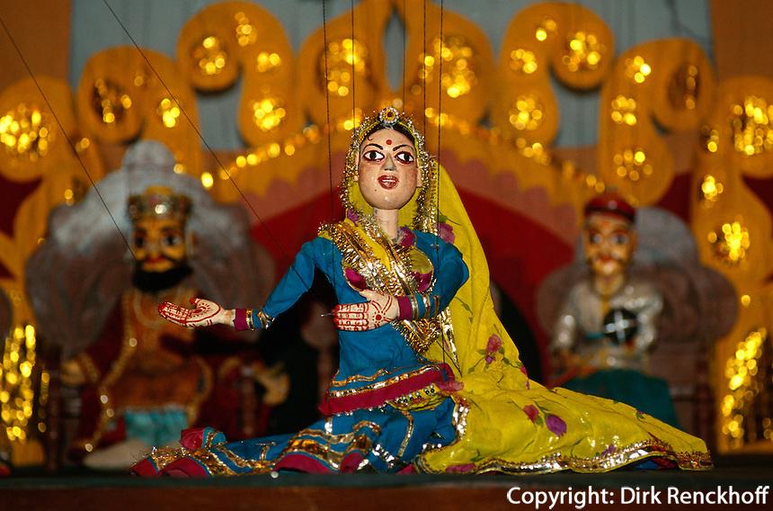 Marionetten in Udaipur (Rajasthan), Indien