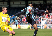 Gozie Ugwu of Wycombe Wanderers during the Sky Bet League 2 match between Wycombe Wanderers and Accrington Stanley at Adams Park, High Wycombe, England on the 30th April 2016. Photo by Liam McAvoy / PRiME Media Images.