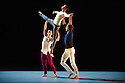 "London, UK. 29.10.2014. ""THOMAS ADES: See The Music, Hear the Dance"" opens at Sadler's Wells. Picture shows: ""The Grit in the Oyster"", choreographed by Alexander Whitley, peformed by Alexander Whitley, Jessica Andrenacci and Antonette Dayrit. Photograph © Jane Hobson."