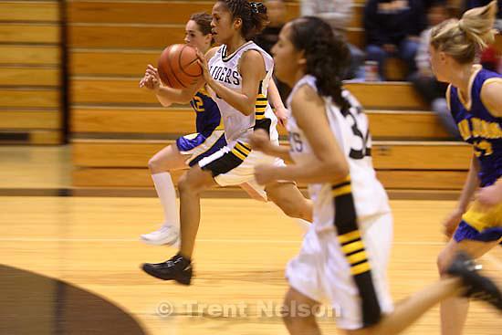 Whitehorse vs. San Juan girls high school basketball. San Juan wins, Whitehorse players sick. 12.20.2005<br />
