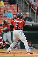 Lehigh Valley IronPigs outfielder Jermaine Mitchell #6 at bat during the second game of a double header against the Buffalo Bisons on June 7, 2013 at Coca-Cola Field in Buffalo, New York.  Lehigh Valley defeated Buffalo 4-0.  (Mike Janes/Four Seam Images)